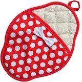 《JessieSteele》Polka Dot 扇貝型圓點隔熱墊(紅白)