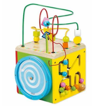 Classic world 客來喜-德國經典木玩 中型多功能六面撥珠幼兒益智玩具