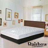 Rb-極簡風格獨立筒(胡桃)床組-加大