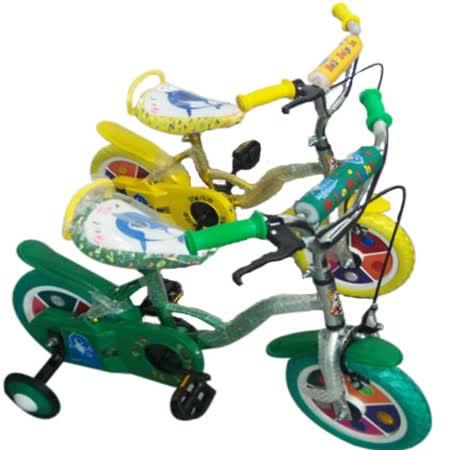 12吋兒童腳踏車(黃)-台灣製