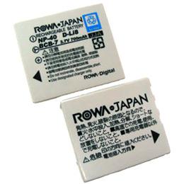 《ROWA?JAPAN》FUJIFILM數位相機專用充電式鋰電池NP-40 ( PENTAX D-LI8 ) - 加送12片裝記憶卡專用保留盒