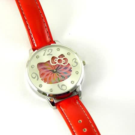 Hello Kitty進口手錶-彩虹漩渦-HKFR911-02B(紅)