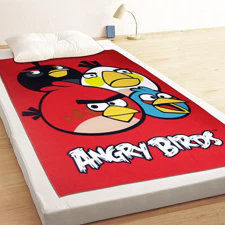 【享夢城堡】憤怒鳥-飛鳥聚聚樂 刷毛毯