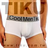 TIKU 梯酷 ~ 木代爾金屬 超彈貼身平口男內褲-白(WM1850)