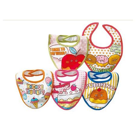 【限量】美味點心口水巾5件組