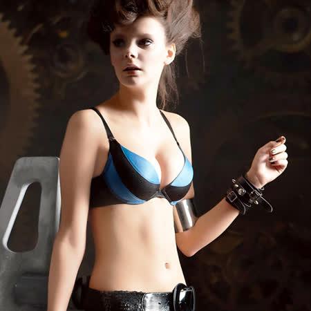 【瑪登瑪朵】RA0145 魔酷風革─魔酷款 A-D罩杯內衣(黑)
