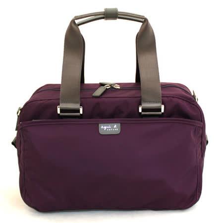agnes b. 限量經典多功能旅行袋(紫)