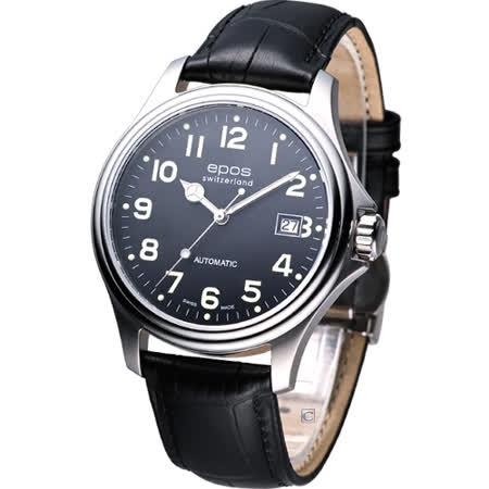 EPOS 魅力經典 紳士機械錶3380.132.20.35.25黑色