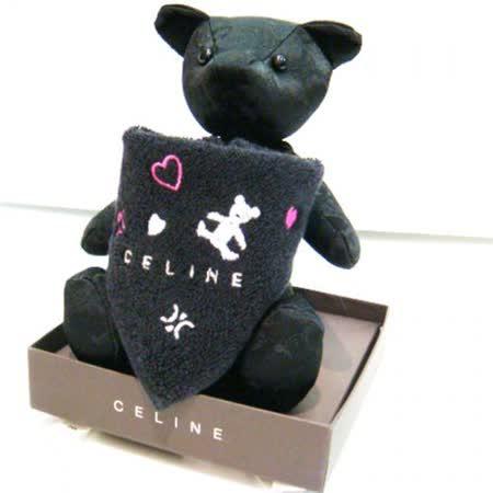 CELINE 經典圖紋小熊&方巾禮盒(黑色)