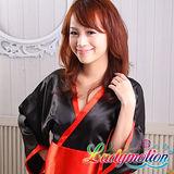 【Ladymotion】別這樣啦!這麼短的和服,人家會害羞啦! ♥ 日系黑色寬版藝伎和服♥ 藝伎和服系列