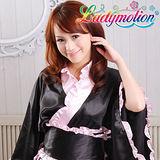 【Ladymotion】周董!你好久沒來了!人家想死你了! ♥ 日系粉色荷葉邊藝伎和服♥