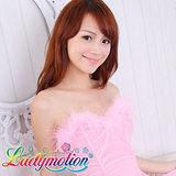【Ladymotion】唉喔~別老盯著人家的事業線看啦!♥ 低胸性感小禮服 ♥
