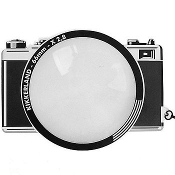 《KIKKERLAND》創意書籤放大鏡(復古相機)