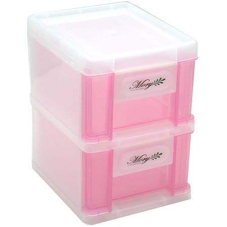 台灣製造粉彩2層高格大抽屜收納盒2入組(6221X2)