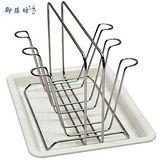 御膳坊晶饌不鏽鋼電解6杯瀝水杯砧板兩用架(NO021)