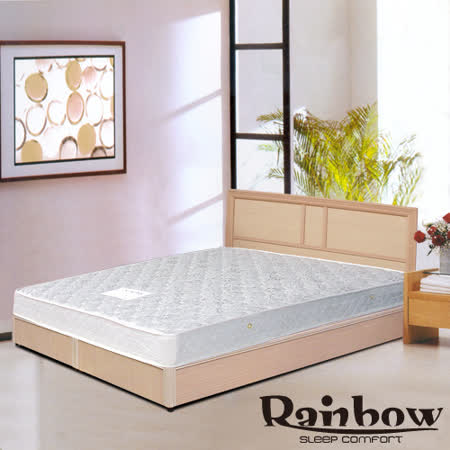 RB -輕鬆家居(白橡)木製床架-加大(不含床墊)