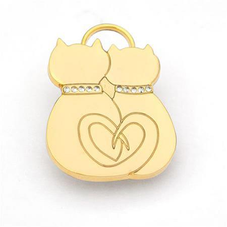 【好物分享】gohappy澳洲品牌Hamish McBeth 相愛貓咪Bling Bling 水晶吊牌 (金色)評價好嗎愛 買 尿布