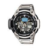 CASIO 巔峰悍將雙感測量運動雙顯錶(鋼帶)