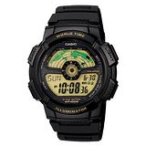CASIO閃電世界戰士運動電子錶(膠帶/黑框)