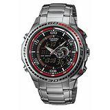 CASIO 競速魅力測溫雙顯錶