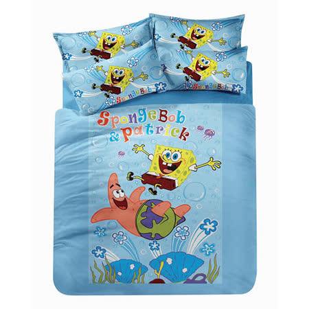 【海綿寶寶與派大星-朋友篇】單人三件式被套床包組