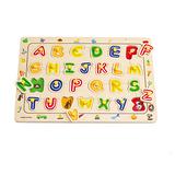 德國Hape愛傑卡-ABC配對字母木拼圖