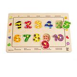 德國Hape愛傑卡-數字配對木拼圖