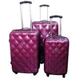 GATE9珠光系列~PC亮面輕硬殼行李箱3件組~共三色~送海關鎖