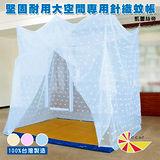 【凱蕾絲帝】100%台灣製造~超密實用單人加大3.5尺針織蚊帳