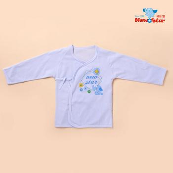【聖哥-明日之星Newstar】MIT 純棉薄款新生兒嬰兒肚衣/長袖衣(袖口反摺、綁帶)媽咪推薦超好穿 0~6M