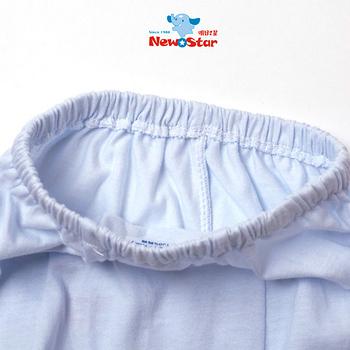 【聖哥-Newstar】MIT薄款新生兒嬰兒長褲-素色-藍-粉紅-束口設計-立體剪裁-包尿布舒適度NO.1-媽咪超推薦
