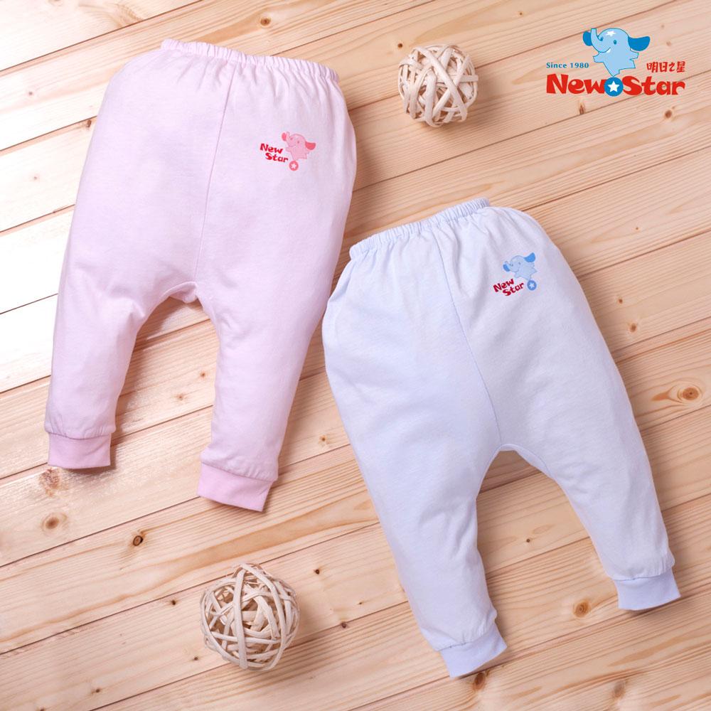 ~聖哥~Newstar~MIT薄款新生兒嬰兒長褲~素色~藍~粉紅~束口 ~立體剪裁~包尿布