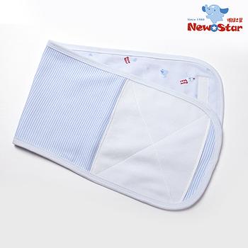 【聖哥-明日之星】MIT100%純棉嬰幼兒童肚圍 0~5歲都可以用喔 (薄、超可愛設計)-M-藍-粉紅-星星