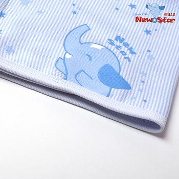 【聖哥Newstar】MIT100%純棉 四季好用保暖肚圍(薄款~超Q圖案設計)-XL-藍-粉-0~2歲-肚子保暖不怕著涼踢被子