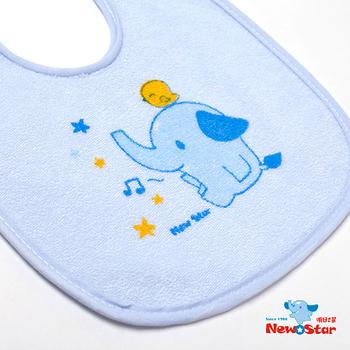 【聖哥-Newstar】MIT嬰幼兒毛巾布小圍兜-綁帶設計-透氣又防水貼心設計-藍-粉紅-超可愛設計