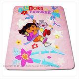 國際知名卡通【Dora朵拉-森林玩伴】單人春夏涼被-粉