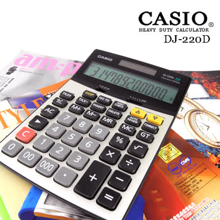 CASIO 卡西歐 步驟記憶功能桌上型計算機DJ-220D