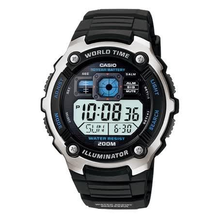 CASIO 勁戰潛武者運動電子錶(膠帶)
