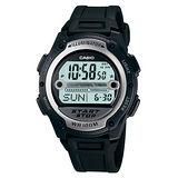 CASIO 戰士運動電子錶(膠帶˙黑)