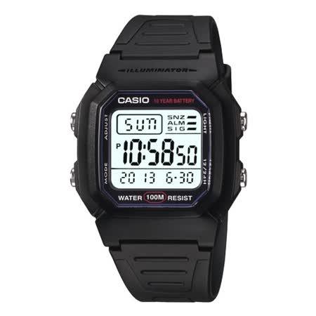 CASIO 酷黑戰士運動電子錶