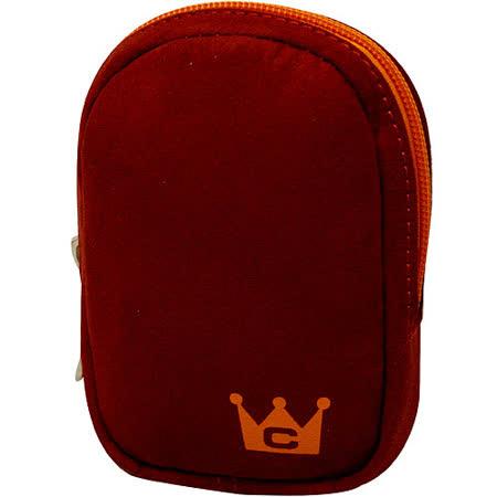 《CaseCrown》手感 3C 仿麂皮收納包(紅)