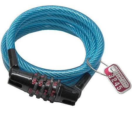 台灣製造自行車6mm專業鋼纜密碼鎖(T-922)