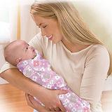 美國 Summer Infant SwaddleMe【純棉薄款 - 粉紅花朵】, 小號 - 可調式懶人包巾