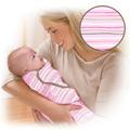 美國 Summer Infant SwaddleMe【純棉薄款 - 粉紅條紋】, 小號 - 可調式懶人包巾