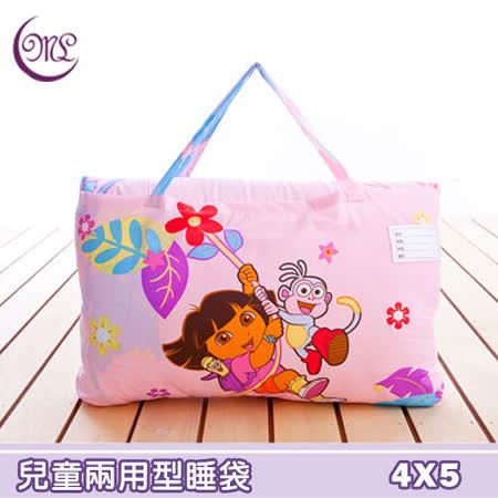 朵拉森林玩伴.兩用鋪棉兒童睡袋.全程臺灣製造