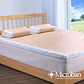 【Microban】抗菌_5CM_冬夏兩用單人記憶床墊(含枕)