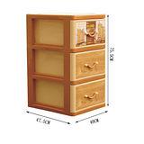 《收納家》橡木三層收納櫃(附輪)