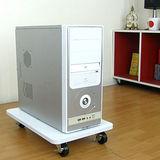 堅固載重型電腦架附四個(有剎車功能)工業輪-2入組(二色可選)-臺灣製造30W×48Dx8H公分--