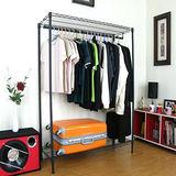 二層吊衣架[單桿鐵線]-黑色45Dx90Wx151H公分