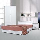伊琳思五件式雙人房間組(含床墊)-三色可選